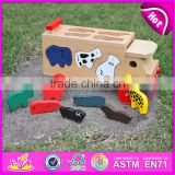 2015 New wooden push toy for kids,Lovely cute wooden toy pull for children,Best seller mini wooden car toy with puzzle WJ276157