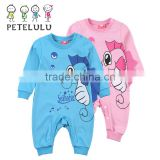 Petelulu Wholesale Baby Girl's Pajamas Baby Clothes Newborn full body knitted suit One piece Baby Winter Romper