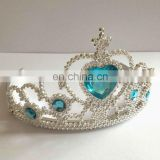 HBN-1447B Wholesale princess tiara crown Elsa blue tiara