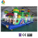 Pick color inflatable courses for kids Home and mall used commercial inflatableobstacle for sale