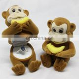 Monkey with banana design gift box Jewelry packing box Jewelry ring display