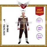 Halloween Party Jacket Wild Viking Male Adult Costume with Hat