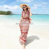 2016 fashion bohemian clothing african print fabric catalog print maxi dress