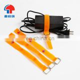 customized flexible strap with buckle reusable soft nylon printed hook and loop cable ties