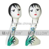 Window Dispaly RetroStyle mannequin head Plastic Female Realistic head manikin,Wholesale Cheaper Head Mannequin, H1103