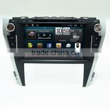 Double din car dvd player audio with GPS for Toyota Camry with Radio Bluetooth Wifi OBD SWC