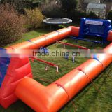 2016 hot sale field soccer inflatable, Human Foosball Inflatable price, human soccer field for rental