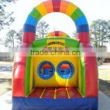 2016 Newest inflatable tunnel slide obstacle combos inflatable rainbow arch obstacle outdoor playground
