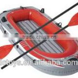 inflatable boat with quants