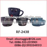 Small Colored Ceramic Promotional Cup with Nose for Wholesale Cup of Espresso Coffee