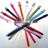 PU leather Bracelet Wristband Fit 8MM Slide Charm Beads