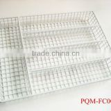 Plastic white metal PVC coating flatware caddy 001A