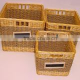 Set of 3 trunks made of espresso seagrass + C20 willow