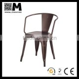 industrial metal furniture coffee armchair steel armrest chair for coffee or bar shop