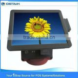 DTK-POS1533 OEM Accepted 15 Inch All In One Touch Screen POS System with MSR VFD220 Customer Display