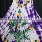 Beautiful purple brush printed long umbrella dress for girls long dresses for wholesale of hand painted