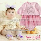 Japanese wholesale products high quality 1 year old baby clothes rompers with tulle skirt for girl