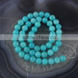 YJ1122-2 Light blue dyed jade stone beads strand for jewelry making