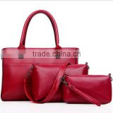 Korea fashion hot sale casual 3pcs in 1set tote bags&handbag with strap