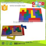 High Quality Preschool Educational Block Toys Colorful Customized Maze Tetris Wooden Toys Construction Sets