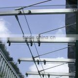 Curtain wall glass canopy fittings/Morden rain tent