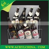 2015 New Style Customized Wholesale Acrylic wine bottle holders, Plexiglass wine racks, acrylic display stands for bottles