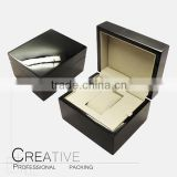 Custom black mens single wooden watch box                                                                                                         Supplier's Choice