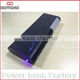 LP-503 Factory wholesale 4 USB mobile battery Charger 12000mah Power Bank with flashlight money detector 3 in 1 power bank
