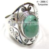 Tibet turquoise rings 925 sterling silver jewelry blue stone rings jewelry Jaali cut rings