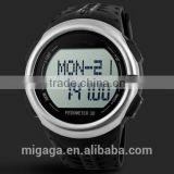 outdoor climbing sports waterproof heart rate pedometer electronic watch-black