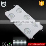 Patented Product AC 220V led module most stable voltage good quality 6 chips 2835 pcb led module for outdoor advertising source