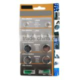 OEM service AG Button cell blister packing: 12pcs LR626 LR44 LR2025 LR2032 A23 A27