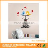 home decor wall stickers bird clock