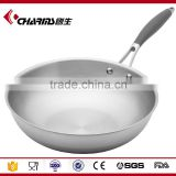 Multifunctional electric skillet stainless fry pan with handle and glass cover
