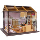 Handmade wooden doll house, DIY wooden toy house, DIY house model
