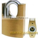 Half Armoured Shackle Arc-type Brass Padlock with Sheet-Cylinder Keys