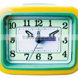 flashing music bell analog snooze alarm square clock