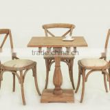 Antique style coffee room use wooden dining set/Wood coffee Table and chair(CH-532-OAk,DT-1087-OAK)