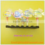 2g hot sell fish shape candy toy