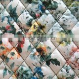 quilted fabric, taffeta printed embroidered diamond quilting fabric,quilted jacket fabric