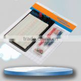 2014 hot sell white ABS metal reed 1260 tie-point with jumper wire testing solderless breadboard