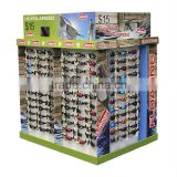Floding Corrugated Cardboard Pallet Display For Sunglasses, Supermarket Cardboard Pallet Display