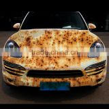 custom design printing removable car sticker, rust styles sticker of car body with top quality