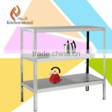 3 ties heavy duty stainless steel kitchen strorage shelf or rack used for comercial industrial with adustable feet