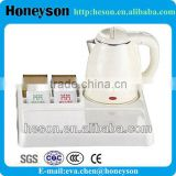 hotel and restaurant supplies electric water kettle and service tray and sachet holder set