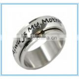 """Always My Mother, Forever Friends"" Stainless Steel Spinner Ring"
