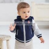 DB373 boy davebella autumn winter infant clothes toddler coat baby outwear babi hoodie wholesale baby clothes
