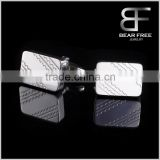 French Stainless steel square cufflinks for men
