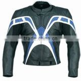 Black Racing Leather Black style Motorcycle suit Jacket & trouser