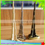 Metal Promotion gift Burj Khalifa tower craft Dubai Travel Souvenir 3D buliding model                                                                         Quality Choice